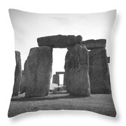 Stonehenge In Black And White Throw Pillow