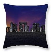 Stonehenge Looking Moody Throw Pillow