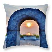 Sunrise Through The Arch - Rehoboth Beach Delaware Throw Pillow