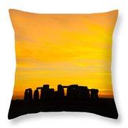 Stonehenge Sunset Throw Pillow
