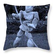 Stoneman In Cyan Throw Pillow