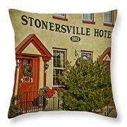 Stonersville Hotel Throw Pillow
