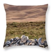 Stones And Sand Throw Pillow