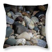 Stones On Beach Throw Pillow
