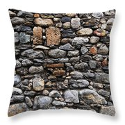 Stones Wall Throw Pillow