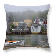 Stonington Harbor 2 Throw Pillow