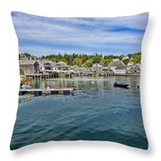 Stonington In Maine Throw Pillow