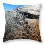 Stony Bush Abstract Throw Pillow
