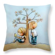 Stop And Smell The Flowers  Throw Pillow by Karin Taylor