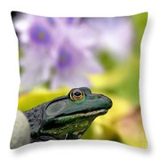 Stop And Smell The Hyacinths Throw Pillow