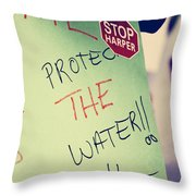 Stop Harper Throw Pillow