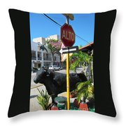 Stop Lots To Look At Throw Pillow