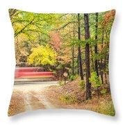 Stop - Beaver's Bend State Park - Highway 259 Broken Bow Oklahoma Throw Pillow by Silvio Ligutti