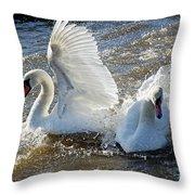 Stop Splashing Me Throw Pillow