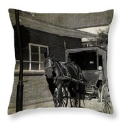 Stopped For A Spell In Sepia Throw Pillow