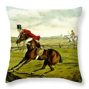 Stopping At Water From Qualified Horses And Unqualified Riders Throw Pillow