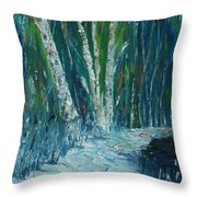 Stopping By Woods On A Snowy Evening Throw Pillow