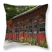 Storage Building Throw Pillow