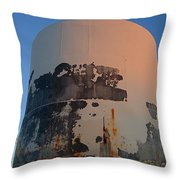 Storage Container Moon Coolidge Arizona 2004 Throw Pillow