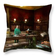 Store - Fish - C Lindenberg Hollieferont Fish Store Berlin Germany 1895 Throw Pillow