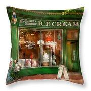 Store Front - Alexandria Va - The Creamery Throw Pillow