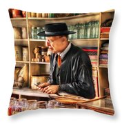 Store - In The General Store Throw Pillow by Mike Savad