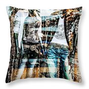 Store Window Display Throw Pillow