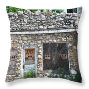 Abandoned Storefront  Throw Pillow