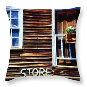 Storefront Rustic Throw Pillow