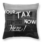 Storefront Sign, 1939 Throw Pillow