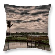 Storm A-coming Throw Pillow
