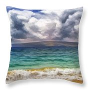 Storm Across The Channel Throw Pillow