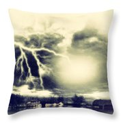 Storm And Flood Throw Pillow