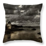 Storm Approaching Throw Pillow