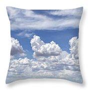 Storm Approaching Panorama Throw Pillow