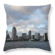 Storm Approaching San Diego  Throw Pillow