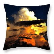 Storm At Dusk Throw Pillow by David Lee Thompson