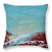 Storm At Red Rock Ridge Throw Pillow