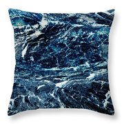 Storm At Sea Throw Pillow by Stephanie Grant