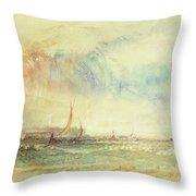 Storm At Sunset, Venice, C.1840 Throw Pillow