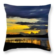 Storm At The Lake Throw Pillow