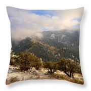Storm Atop Oquirrhs Throw Pillow