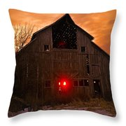 Storm Barn Throw Pillow