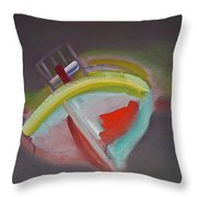 Storm Beach Throw Pillow