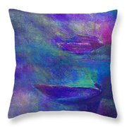 Storm Boats Throw Pillow