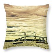 Storm Brewing In Newport Throw Pillow
