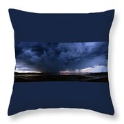 Storm Cell Over Lubec Maine Throw Pillow