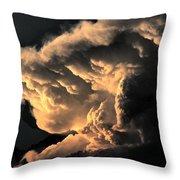 Storm Cloud Menacing Throw Pillow
