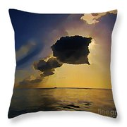 Storm Cloud Over Calm Waters Throw Pillow by John Malone