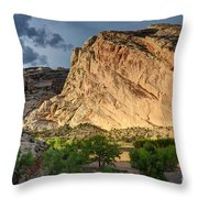 Storm Clouds Above Split Mountain Dinosaur National Monument Throw Pillow
